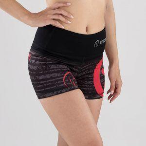malla-corta-crossfit-mujer-cintura-alta-xtamina-storm-red