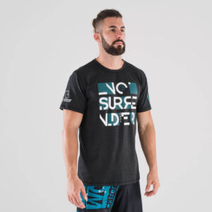 camiseta-crossfit-ecoactive-no-surrender-black-teal