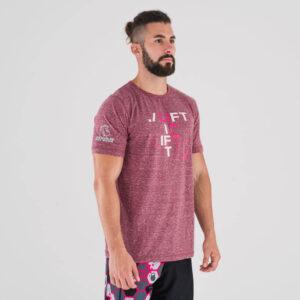 camiseta-crossfit-ecoactive-lift-crimson-pink