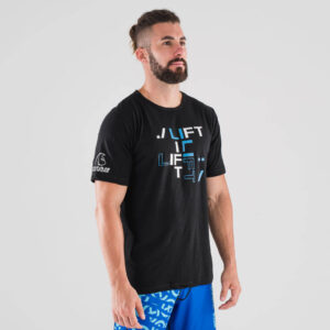camiseta-crossfit-ecoactive-lift-black-blue