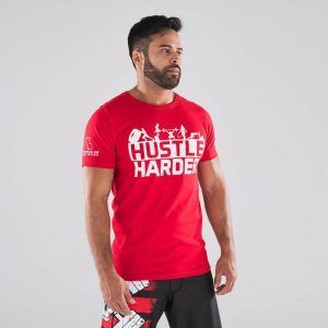 camiseta-crossfit-ecoactive-hustle-harder-red
