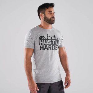 camiseta-crossfit-ecoactive-hustle-harder-grey
